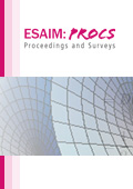 ESAIM: Proceedings and Surveys Cover page